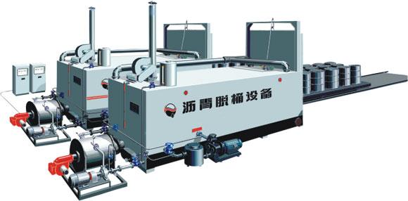 沥青脱桶设备的工作原理主要是充分利用导热油炉废油